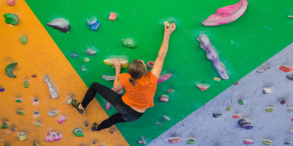 indoor climbing girl